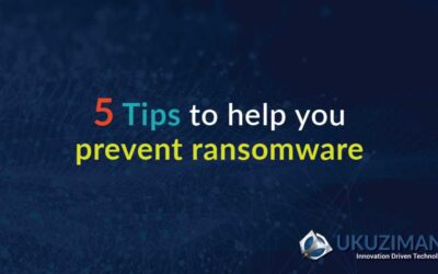 5 tips to help you prevent ransomware